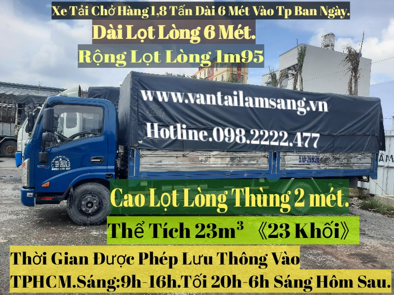 Cho thuê xe tải chở hàng 6m 2 tấn