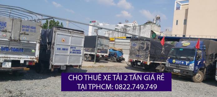 Cho thuê xe tải 2 tấn chở hàng giá rẻ - Lâm Sang