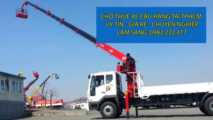 Chuyên cho thuê xe cẩu hàng giá rẻ - Vận tải Lâm Sang