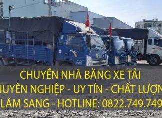 Chuyển nhà bằng xe tải giá rẻ hàng đầu TPHCM hiện nay