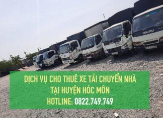 Cho thuê xe tải chuyển nhà tại Hóc Môn [ GIÁ RẺ - DỊCH VỤ CHUYÊN NGHIỆP ]