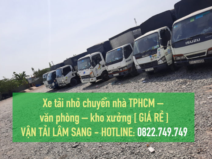 Xe tải nhỏ chuyển nhà TPHCM –  văn phòng – kho xưởng [ GIÁ RẺ ]