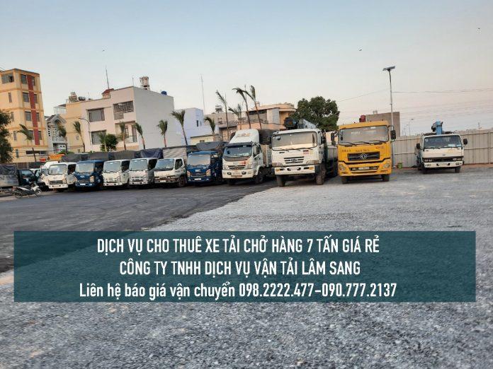 Cho thuê xe tải chở hàng 7 tấn giá rẻ tại TPHCM