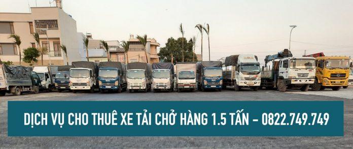 Xe tải chở hàng 1.5 tấn cho thuê tại TPHCM – Lâm Sang