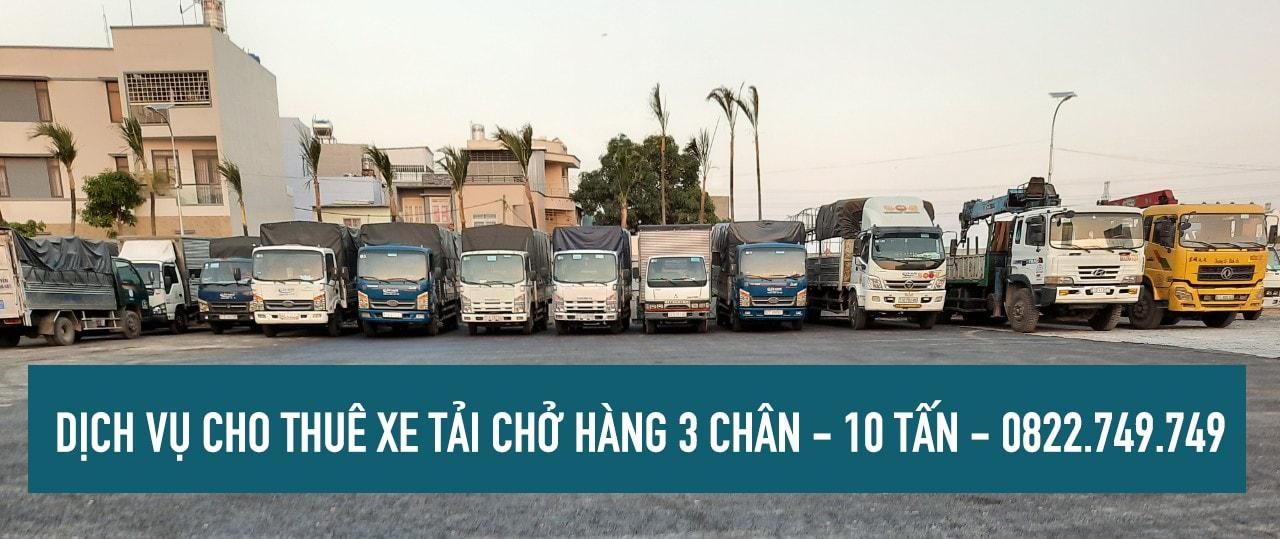 Xe tải chở hàng 3 chân ( 10 tấn cho thuê ) tại TPHCM – Lâm Sang