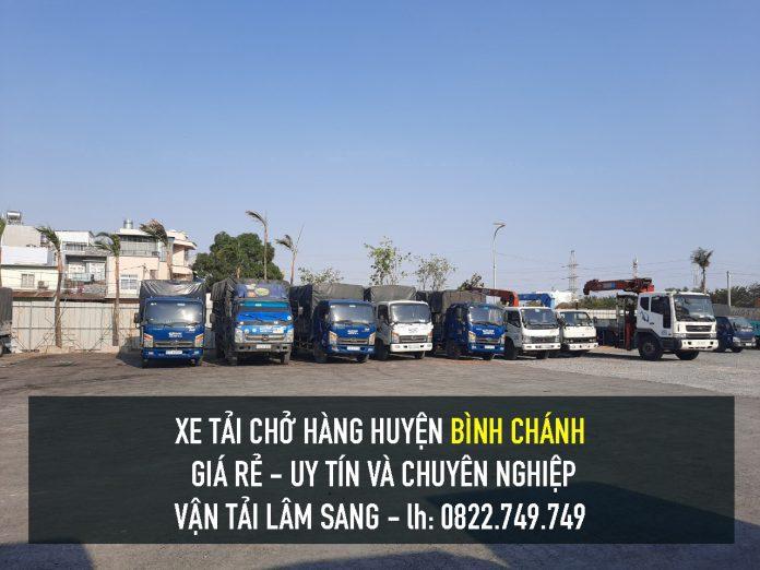 Xe tải chở hàng tại Huyện Bình Chánh – vận chuyển hàng hoá giá rẻ