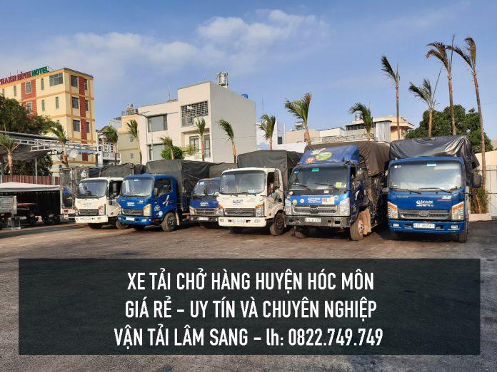 Xe tải chở hàng tại Huyện Hóc Môn – Cty vận tải Lâm Sang