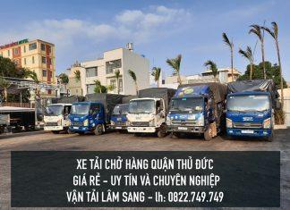 Xe tải chở hàng tại Quận Thủ Đức – vận chuyển hàng hoá