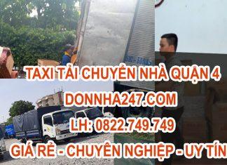 Taxi Tải Chuyển Dọn Nhà Tại Quận 4 Giá Rẻ - Dọn Nhà 24/7