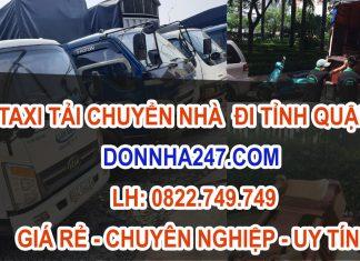 Dịch vụ xe taxi tải chuyển nhà tại Quận 5 giá rẻ, chuyên nghiệp