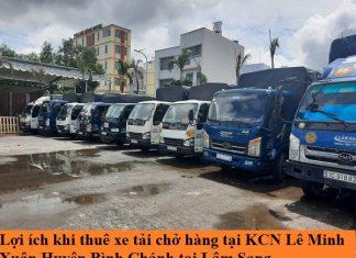 Xe tải chở hàng KCN Lê Minh Xuân