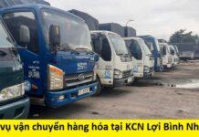 Dịch vụ vận chuyển hàng hóa tại KCN Lợi Bình Nhơn