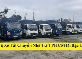 Dịch Vụ Xe Tải Chuyển Nhà Từ TPHCM ĐiBạc Liêu