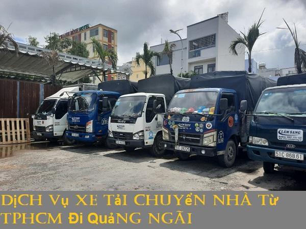 Dịch Vụ Xe Tải Chuyển Nhà Từ TPHCM Đi Quảng Ngãi