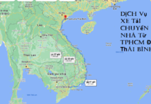 Dịch Vụ Xe Tải Chuyển Nhà Từ TPHCM Đi Thái Bình