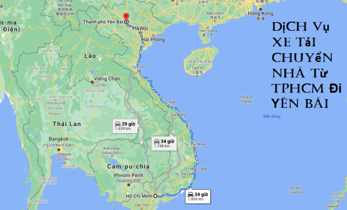 Dịch Vụ Xe Tải Chuyển Nhà Từ TPHCM Đi Yên Bái