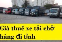 Giá thuê xe tải chở hàng đi tỉnh
