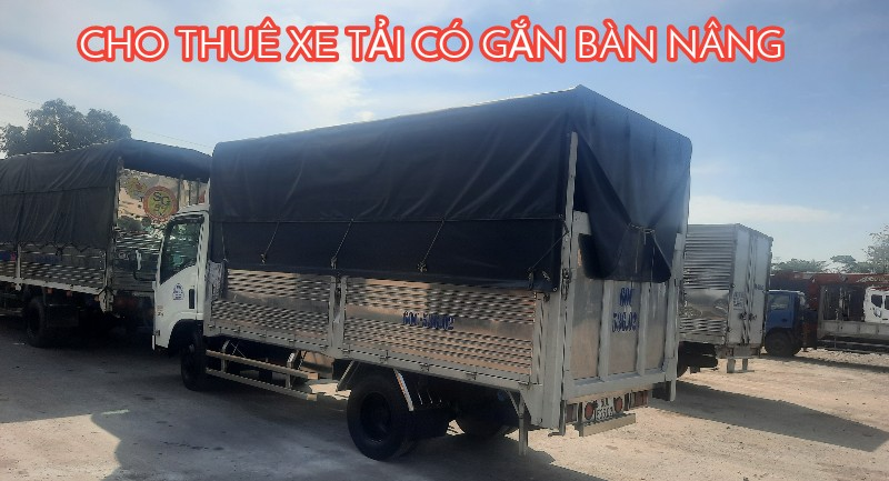 Thuê xe tải có bàn nâng